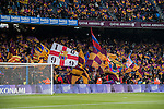 Fans of FC Barcelona wave flags to show their supports prior to the Copa del Rey 2016-17 Semi-final match between FC Barcelona and Atletico de Madrid at the Camp Nou on 07 February 2017 in Barcelona, Spain. Photo by Diego Gonzalez Souto / Power Sport Images