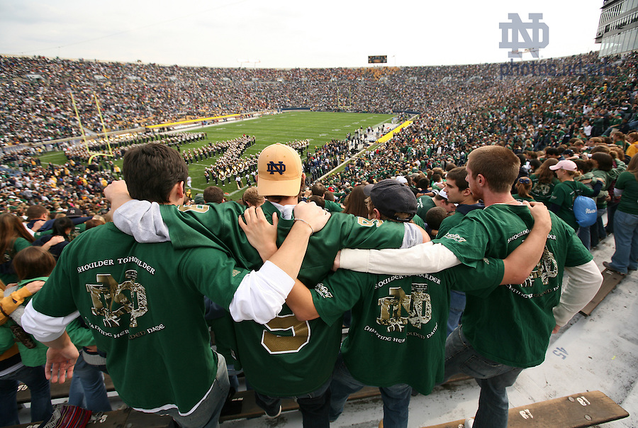 In the student section of the stadium, 2007 season.