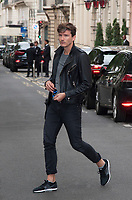 July 23 2017, PARIS FRANCE the Dancer of<br /> Celine Dion, Pepe Munoz at the Royal Monceau Hotel on Avenue Hoche. H's ready to go to the Berlin Show # PEPE MUNOZ ARRIVE AU ROYAL MONCEAU