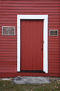 The Little Red Schoolhouse in Newport, New Hampshire USA  which is part of New England. This schoolhouse is listed on the National Register of Historic Places.