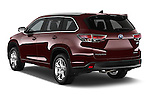 Car pictures of rear three quarter view of a 2015 Toyota Highlander Limited Hybrid 4x4 5 Door SUV Angular Rear