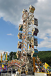 The Zipper ride on the midway at Cheshire Fair in Swanzey, New Hampshire USA