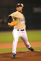 Vanderbilt starting pitcher David Price (14) pitches against Rice at the 2007 Houston College Classic at Minute Maid Park in Houston, TX, Friday, February 9, 2007.  Vanderbilt defeated Rice 7-3.