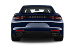 Straight rear view of 2018 Porsche Panamera Turbo 5 Door Hatchback Rear View  stock images