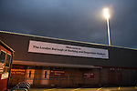 Dagenham and Redbridge 1 Burton Albion 3, 21/02/2015. Victoria Road, League Two. Darkness falls on the London Borough of Barking and Dagenham Stadium. Burton Albion moved to the top of League Two following a hard-fought win over Dagenham & Redbridge played in-front of 1,718 supporters. Photo by Simon Gill.