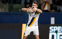 Carson, CA - April 7, 2017: The Los Angeles Galaxy defeated the Montreal Impact 2-0 with Romain Alessandrini contributing a goal in a Major League Soccer (MLS) game at StubHub Center.