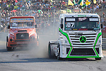 Finnish driver John Hemming belonging Finnish Team John Hemming and Czech driver Jiri Forman belonging Czech team Buggyra International Racing System  during the fist race R1 of the XXX Spain GP Camion of the FIA European Truck Racing Championship 2016 in Madrid. October 01, 2016. (ALTERPHOTOS/Rodrigo Jimenez)