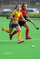 Otago v Canterbury 2. 2021 National Women's Under-18 Hockey Tournament at National Hockey Stadium in Wellington, New Zealand on Sunday, 11 July 2021. Photo: Dave Lintott / lintottphoto.co.nz https://bwmedia.photoshelter.com/gallery-collection/Under-18-Hockey-Nationals-2021/C0000T49v1kln8qk