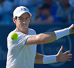 Andy Murray (GBR) defeats Richard Gasket (FRA) 4-6, 6-1, 6-4 at the Western and Southern Open in Mason, OH on August 21, 2015.