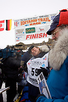 18 year old Melissa Owens is all smiles after finishing in 30th place in her home town of Nome during the 2008 Iditarod.