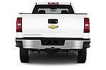 Straight rear view of a 2015 Chevrolet Silverado 2500 HD Work Truck Double Cab LWB 4 Door  Rear View  stock images