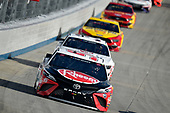 #95: Christopher Bell, Leavine Family Racing, Toyota Camry Rheem, #34: Michael McDowell, Front Row Motorsports, Ford Mustang Digital Ally Shield Cleansers