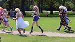 The Great Drag Race -  Highbury Fields London.Race by men in drag - and a few women - in aid of prostate cancer  today  30.6.12...The Great Drag Race is a spectacular and outrageous annual fundraising event. Working in partnership with social enterprise The xFoundation, we're aiming to drag the issue of prostate cancer into the spotlight - and what could be more eye-catching than hundreds of blokes of all shapes, ages and sizes running 10.2km in frocks and wigs? That's one long stockinged stride for each of the 10,200 men lost to the disease last year.....Picture by Gavin Rodgers/ Pixel 07917221968
