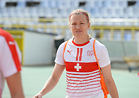 20180305 - LARNACA , CYPRUS : Swiss Lara Dickenmann pictured during a women's soccer game between Switzerland and Wales , on monday 5 March 2018 at GSZ Stadium in Larnaca , Cyprus . This is the third game in group A for Switzerland and Wales during the Cyprus Womens Cup , a prestigious women soccer tournament as a preparation on the World Cup 2019 qualification duels. PHOTO SPORTPIX.BE | DAVID CATRY