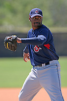 Cleveland Indians minor leaguer Carlton Smith during Spring Training at the Chain of Lakes Complex on March 17, 2007 in Winter Haven, Florida.  (Mike Janes/Four Seam Images)