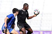 Orlando, Florida - Wednesday January 17, 2018: Issaka Nyemewero. Match Day 3 of the 2018 adidas MLS Player Combine was held Orlando City Stadium.