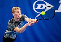 Amstelveen, Netherlands, 14  December, 2020, National Tennis Center, NTC, NK Indoor, National  Indoor Tennis Championships, Qualifying: Jarno Jans (NED) <br /> Photo: Henk Koster/tennisimages.com