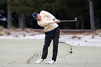 PINEHURST, NC - MARCH 02: Parker Gillam of Wake Forest University hits an approach shot on the second hole at Pinehurst No. 2 on March 02, 2021 in Pinehurst, North Carolina.