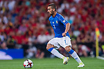 Leonardo Spinazzola of Italy in action during their 2018 FIFA World Cup Russia Final Qualification Round 1 Group G match between Spain and Italy on 02 September 2017, at Santiago Bernabeu Stadium, in Madrid, Spain. Photo by Diego Gonzalez / Power Sport Images