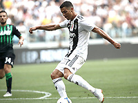 Calcio, Serie A: Juventus - Sassuolo, Turin, Allianz Stadium, September 16, 2018.<br /> Juventus' Cristiano Ronaldo scores his second goal during the Italian Serie A football match between Juventus and  Sassuolo at Torino's Allianz stadium, September 16, 2018.<br /> UPDATE IMAGES PRESS/Isabella Bonotto