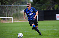 Rangers' Andy Bevin in action during the Central League football match between Miramar Rangers and Lower Hutt AFC at David Farrington Park in Wellington, New Zealand on Saturday, 10 April 2021. Photo: Dave Lintott / lintottphoto.co.nz