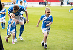 St Johnstone v RangersÖ21.05.17     SPFL    McDiarmid Park<br /> Liam Craig wih his children, Calvin and <br /> Picture by Graeme Hart.<br /> Copyright Perthshire Picture Agency<br /> Tel: 01738 623350  Mobile: 07990 594431