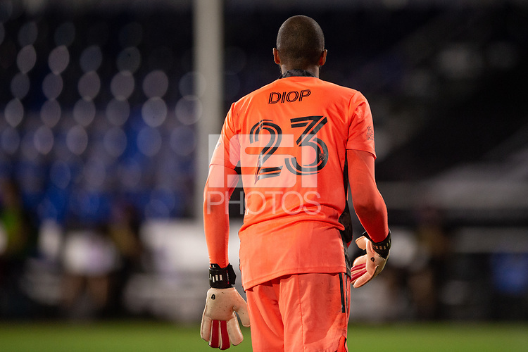 LAKE BUENA VISTA, FL - JULY 25: Clement Diop #23 of the Montreal Impact waits for the ball during a game between Montreal Impact and Orlando City SC at ESPN Wide World of Sports on July 25, 2020 in Lake Buena Vista, Florida.