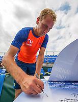 Moscow, Russia, 13 th July, 2016, Tennis,  Davis Cup Russia-Netherlands, Training Dutch team, Thiemo De Bakker (NED)<br /> Photo: Henk Koster/tennisimages.com