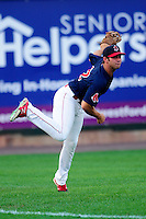 Lowell Spinners left fielder Tyler Spoon (12) during a game versus the Hudson Valley Renegades at Lelacheur Park on August 30, 2015 in Lowell, Massachusetts.  (Ken Babbitt/Four Seam Images)