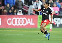 WASHINGTON, DC - MARCH 07: Edison Flores #10 of D.C. United during a game between Inter Miami CF and D.C. United at Audi Field on March 07, 2020 in Washington, DC.