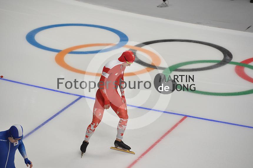 OLYMPIC GAMES: PYEONGCHANG: 19-02-2018, Gangneung Oval, Long Track, 500m Men, Piotr Michalski (POL), ©photo Martin de Jong