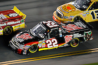 Joey Coulter (#22) and Johnny Sauter (#13)