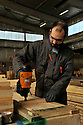 20/02/12 - THIERS - PUY DE DOME - FRANCE - Entreprise PAREMBAL, fabricant de d emballages professionnels en bois pour l industrie - Photo Jerome CHABANNE