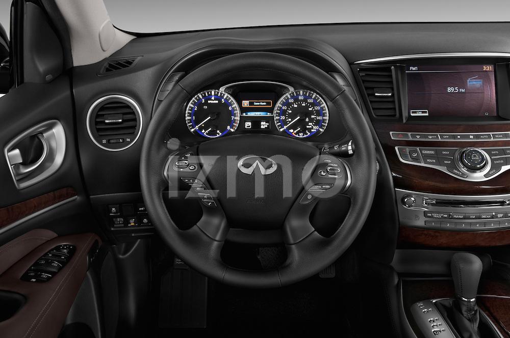 Steering Wheel View Of 2013 Infiniti QX35 / JX35