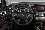 Steering Wheel View Of 2013 Infiniti QX35 / JX35