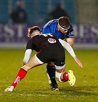 8th January 2021; RDS Arena, Dublin, Leinster, Ireland; Guinness Pro 14 Rugby, Leinster versus Ulster; Seán Cronin of Leinster is tackled by Ethan McIlroy of Ulster