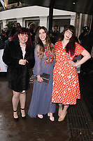 Briony Williams, Manon Lagreve and Kim-Joy <br /> arriving for the TRIC Awards 2019 at the Grosvenor House Hotel, London<br /> <br /> ©Ash Knotek  D3487  08/03/2019