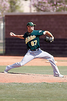 Jeff Gray - Oakland Athletics - 2009 spring training.Photo by:  Bill Mitchell/Four Seam Images