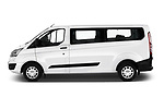 Car Driver side profile view of a 2018 Ford Transit-Custom Trend 4 Door Passanger Van Side View