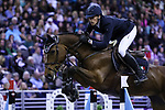 OMAHA, NEBRASKA - APR 2: Henrik von Eckermann rides Mary Lou during the Longines FEI World Cup Jumping Final at the CenturyLink Center on April 2, 2017 in Omaha, Nebraska. (Photo by Taylor Pence/Eclipse Sportswire/Getty Images)