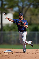 Minnesota Twins Levi Michael (40) during a minor league Spring Training game against the Baltimore Orioles on March 16, 2016 at CenturyLink Sports Complex in Fort Myers, Florida.  (Mike Janes/Four Seam Images)