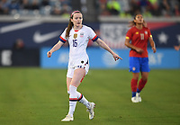 JACKSONVILLE, FL - NOVEMBER 10: Rose Lavelle #16 of the United States moves to an opening during a game between Costa Rica and USWNT at TIAA Bank Field on November 10, 2019 in Jacksonville, Florida.