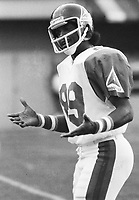 James Scott Montreal Alouettes 1981. Photo F. Scott Grant