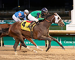 November 28, 2020: Keepmeinmind, trained by Robertino Diodoro and ridden by David Cohen, wins the G2 Kentucky Jockey Club Stakes at Churchill Downs in Louisville, Kentucky on November 28 2020. Jessica Morgan/Eclipse Sportswire.