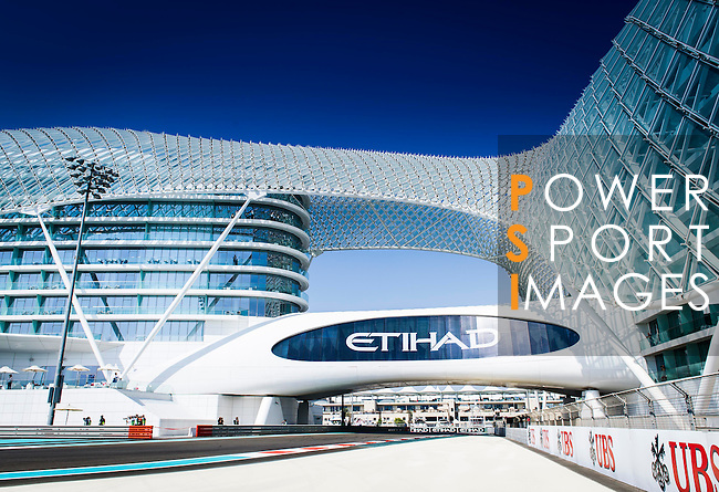 General view of the the Abu Dhabi Formula One Grand Prix 2013 at the Yas Marina Circuit on November 3, 2013 in Abu Dhabi, United Arab Emirates. Photo by Victor Fraile / The Power of Sport Images