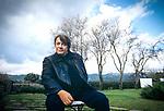 4 febbraio 1997,   L'Agnata, Tempio Pausania, Fabrizio De Andrè fotografato nella sua casa