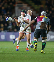 Friday 13th December 2019 | Harlequins vs Ulster Rugby<br /> <br /> Eric O'Sullivaan during the Heineken Champions Cup Round 4 clash in Pool 3, between Harlequins and Ulster Rugby and Harlequins at The Stoop, Twickenham, London, England. Photo by John Dickson / DICKSONDIGITAL