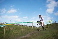 Helen Wyman (GBR) leading from start to finish<br /> <br /> 2014 Noordzeecross