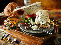 Traditional blue Stilton cheese