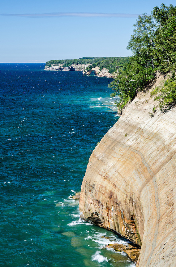 The impressive cliffs that make up Pictured Rocks National Lakeshore in Munising, MI.